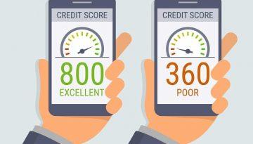 poor vs good credit rating